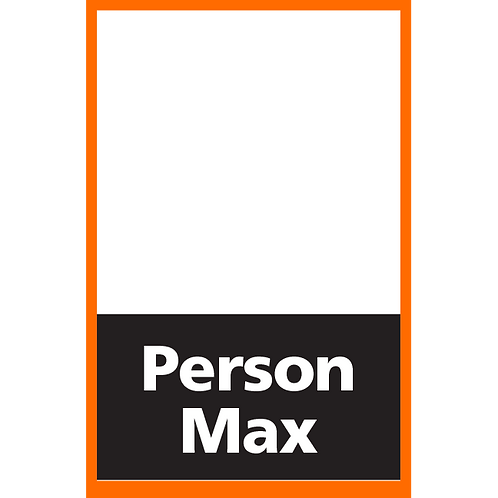 Series 4: Fillable/Blank Person Max - Poster/Sign