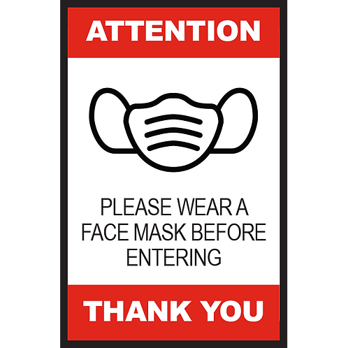 Series 2: Please Wear a Face Mask Before Entering- Poster/Sign