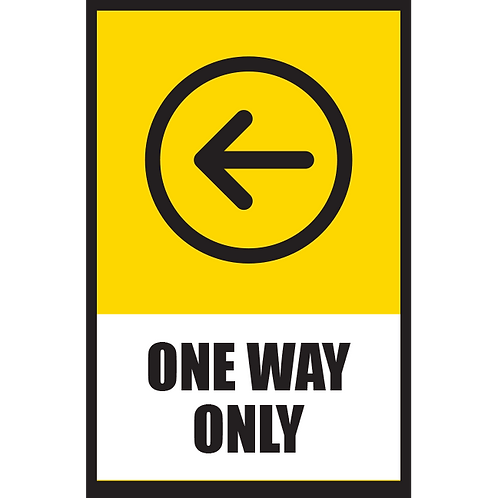 Series 5: One Way (Left Arrow) - Poster/Sign