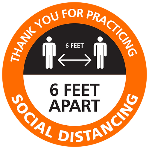 Series 4: Thank You for Practicing Social Distancing- Floor Graphic-Circle 17""
