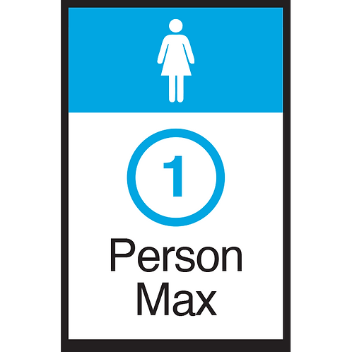 Series 3: 1 Person Max (Female) - Poster/Sign