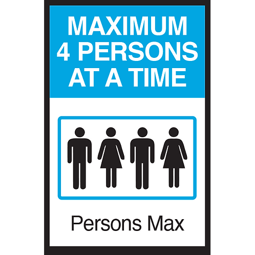Series 3: Elevator Maximum 4 Persons at a Time - Poster/Sign
