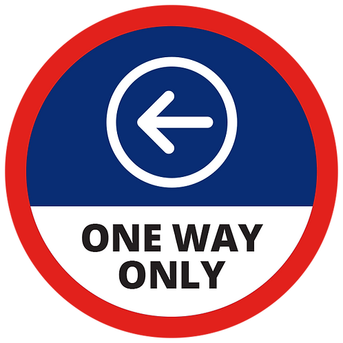 Series 1: One Way Only (Left Arrow) - Floor Graphic-Circle 17""