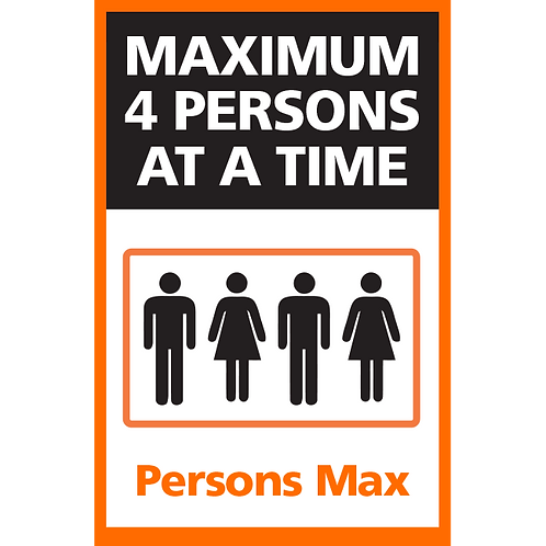 Series 4: Elevator Maximum 4 Persons at a Time - Poster/Sign