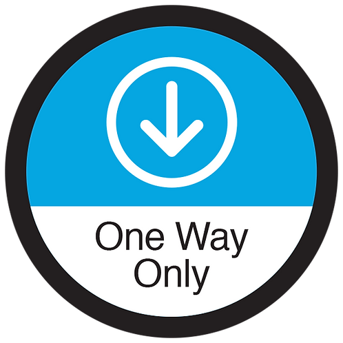 """Series 3: One Way Only Down Arrow - Floor Graphic-Circle 17"""""""