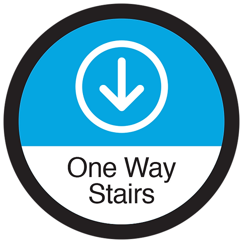 """Series 3: One Way Stairs Down Arrow - Floor Graphic-Circle 17"""""""