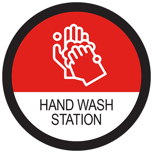 "Series 2: Hand Wash Station - Floor Graphic-Circle 17"""