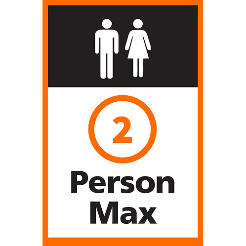 Series 4: 2 Person Max - Poster/Sign
