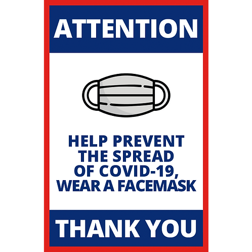 Help Prevent the Spread of Covid-19, Wear a  Face Mask (Series 1)-Poster