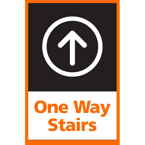 Series 4: One Way Stairs (Up Arrow) - Poster/Sign