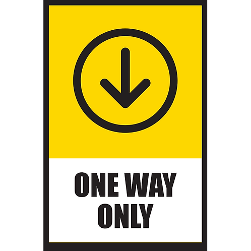 Series 5: One Way (Down Arrow) - Poster/Sign