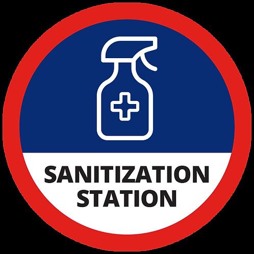 "Series 1: Sanitization Station - Floor Graphic-Circle 17"""