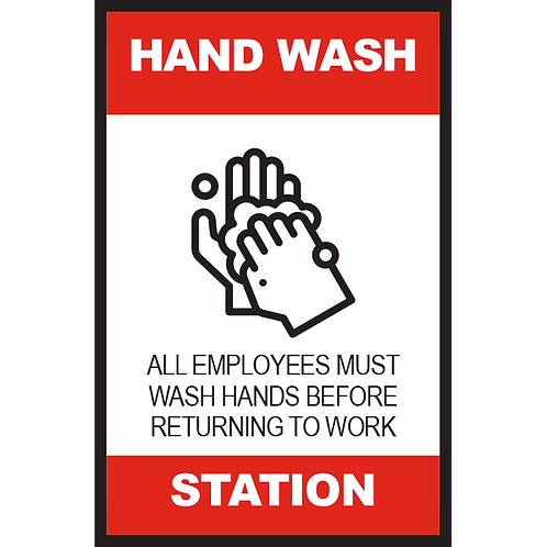 Series 2: Hand Wash Station - Poster/Sign