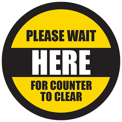Series 5: Please Wait for Counter to Clear- Floor Graphic-Circle 17""