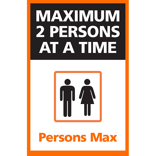 Series 4: Elevator Maximum 2 Persons at a Time - Poster/Sign