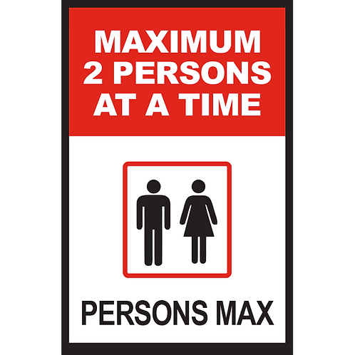 Series 2: Elevator Maximum 2 Persons at a Time - Poster/Sign