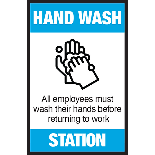 Series 3: Hand Wash Station- Poster/Sign