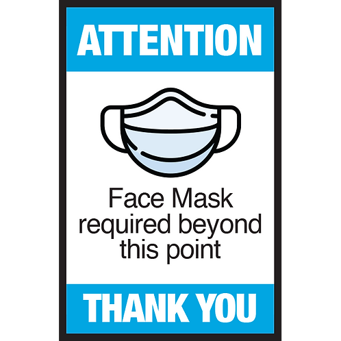 Series 3: Face Mask- Required Beyond this Point - Poster/Sign