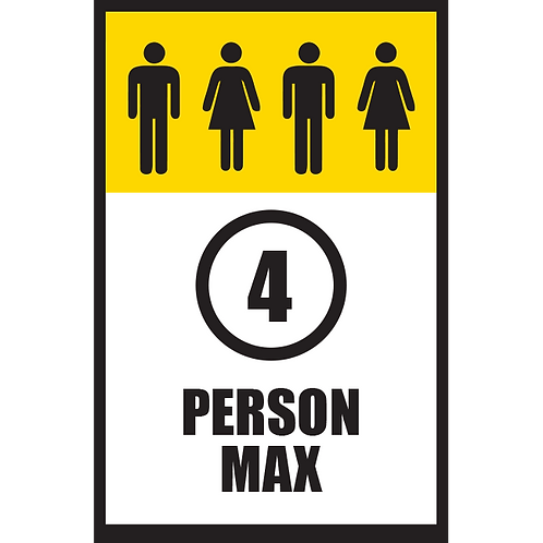 Series 5: 4 Person Max - Poster/Sign