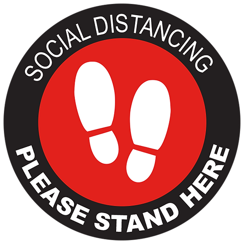 Series 2: Social Distancing Please Stand Here- Floor Graphic-Circle 17""