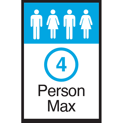 Series 3: 4 Person Max - Poster/Sign