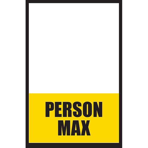 Series 5: Fillable/Blank Person Max - Poster/Sign