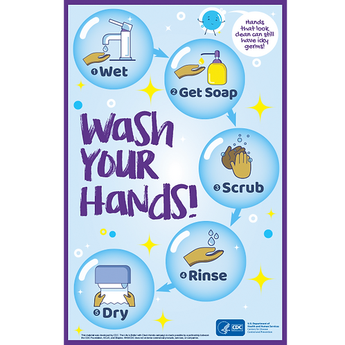 Wash Your Hands! - CDC Official Poster