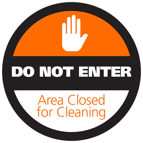 Series 4: Area is Closed for Cleaning - Floor Graphic-Circle 17""
