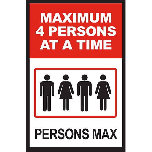 Series 2: Elevator Maximum 4 Persons at a Time - Poster/Sign