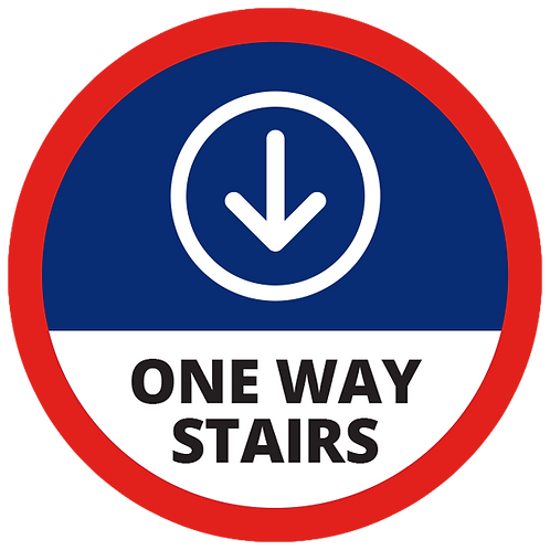 Series 1: One Way Stairs  (Down Arrow) - Floor Graphic-Circle 17""