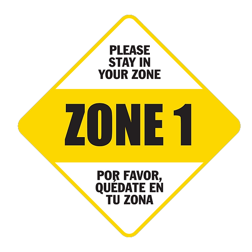 "Please Stay in Your Zone:1 - Floor Graphic - Diamond 17""​​​​​​​​​​​"