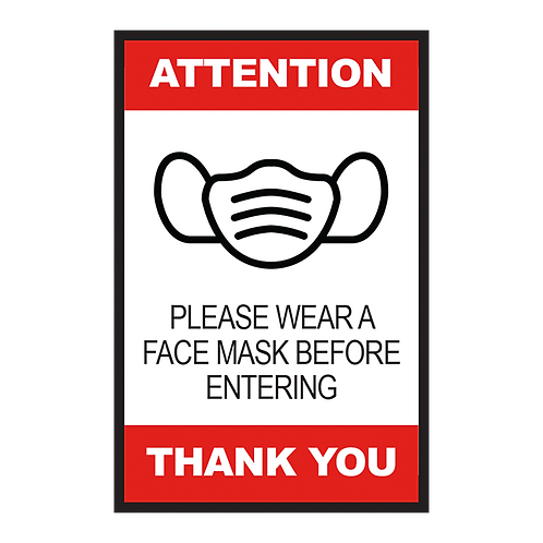 Please Wear a Face Mask Before Entering (Series 2) - Poster