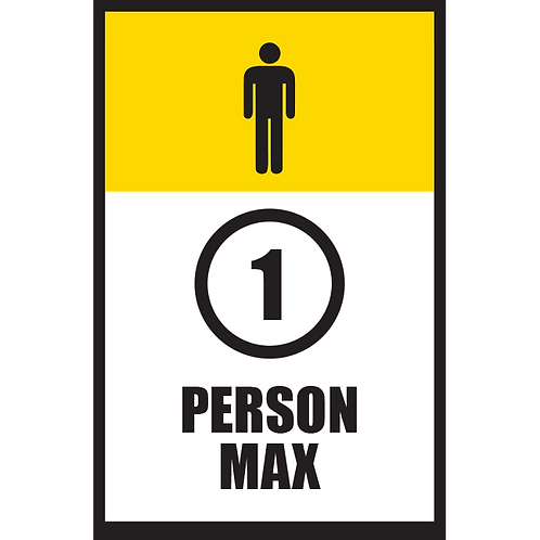 Series 5: 1 Person Max (Male) - Poster/Sign