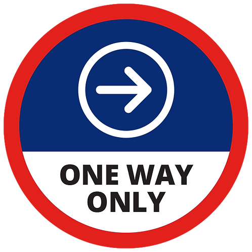 Series 1: One Way Only (Right Arrow) - Floor Graphic-Circle 17""