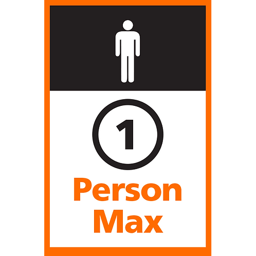 Series 4: 1 Person Max (Male) - Poster/Sign