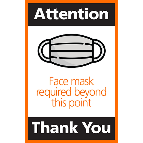 Series 4: Face Mask Required Beyond this Point- Poster/Sign