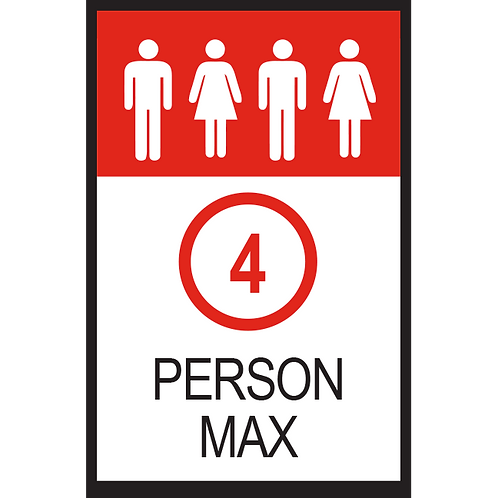 Series 2: 4 Person Max - Poster/Sign
