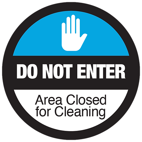 Series 3: Area Closed for Cleaning - Floor Graphic-Circle 17""