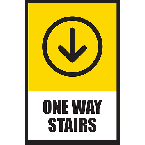 Series 5: One Way Stairs (Down Arrow) - Poster/Sign