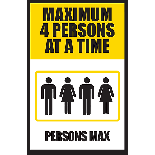 Series 5: Elevator Maximum 4 Persons at a Time - Poster/Sign