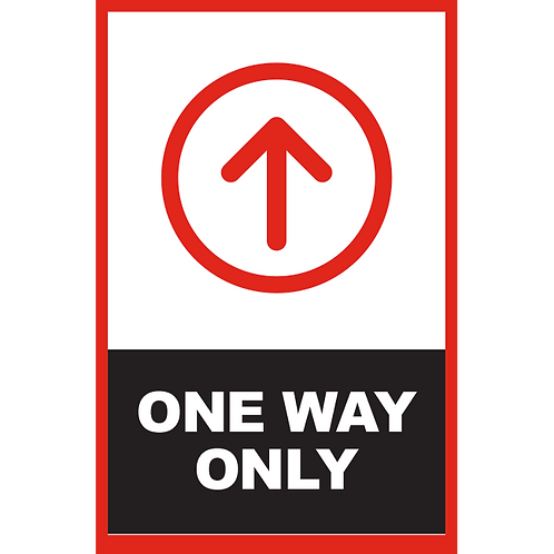 Series 2: One Way (Up Arrow)  - Poster/Sign