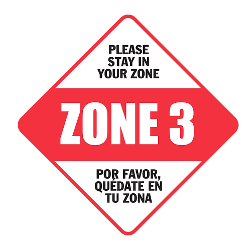 "Please Stay in Your Zone: 3 - Floor Graphic-Diamond 17""​​​​​​​​​​​"