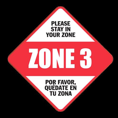 "Please Stay in Your Zone: 3 - Floor Graphic-Diamond 17"""