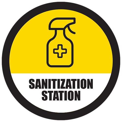 Series 5: Sanitization Station - Floor Graphic-Circle 17""