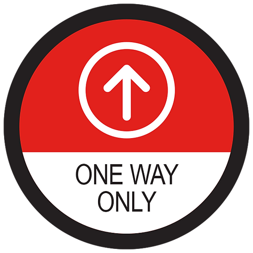 """Series 2: One Way Only Up Arrow - Floor Graphic-Circle 17"""""""