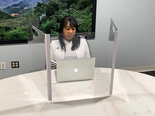 Plexiglass Shield for Desk | Plexiglass Desk Shield