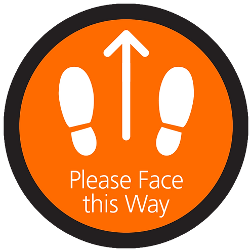 """Series 4: Please Face this Way - Floor Graphic-Circle 17"""""""