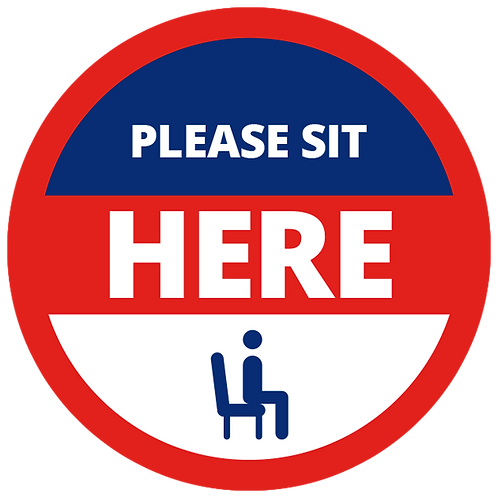 Series 1: Please Sit Here - Floor Graphic-Circle 17""