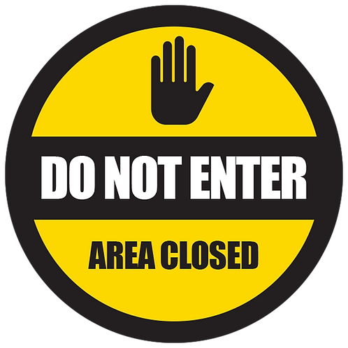 """Series 5: Do Not Enter Area Closed - Floor Graphic-Circle 17"""""""