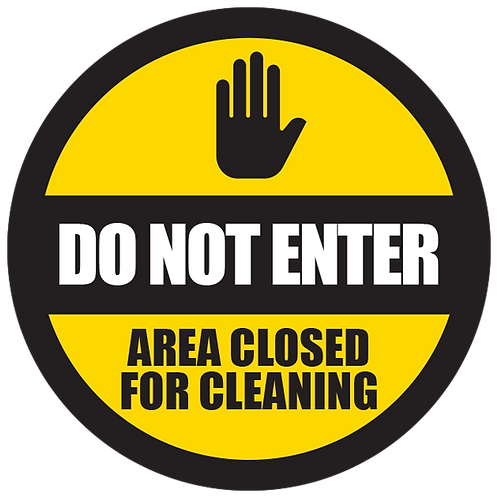 Series 5: Do Not Enter Area Closed for Cleaning - Floor Graphic-Circle 17""